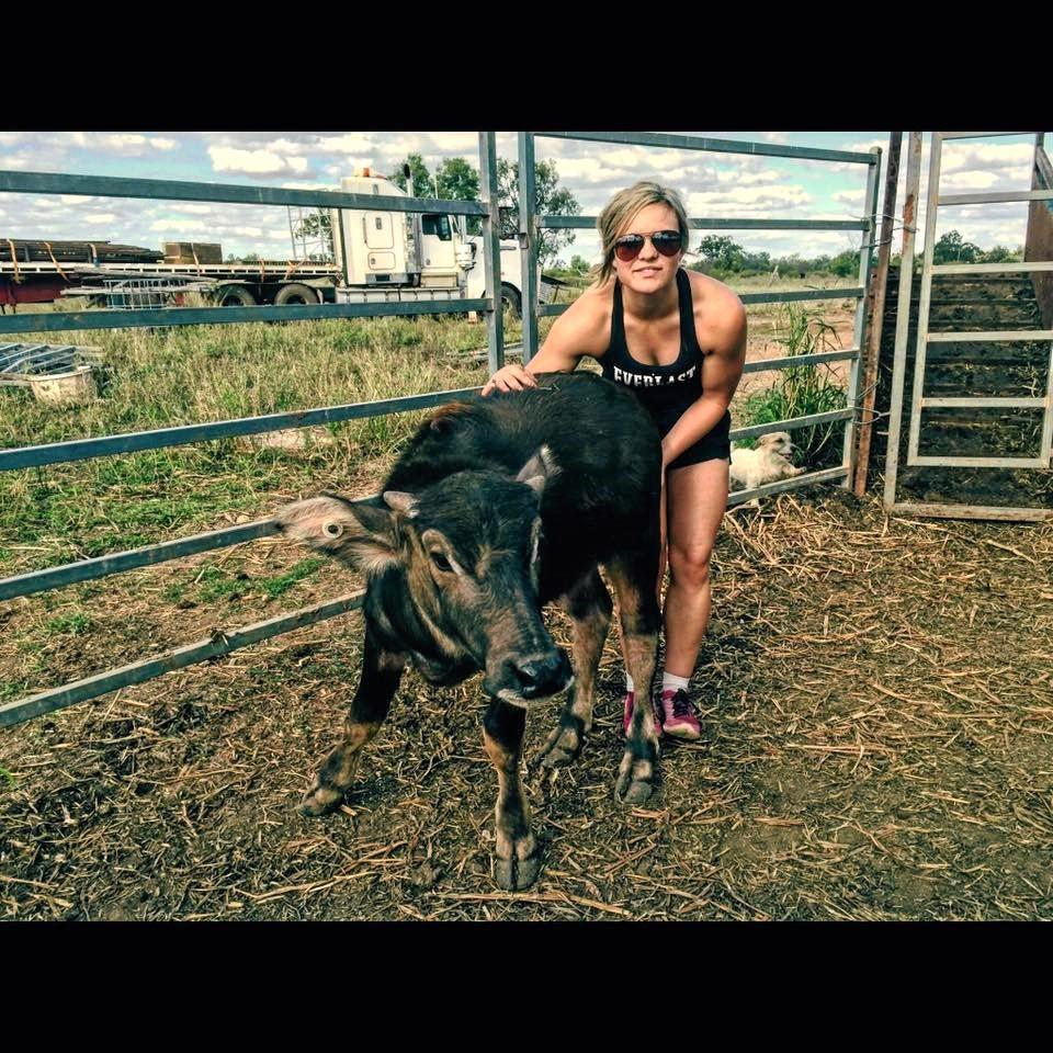 PBR bull contractor Dakota Brandenburg loves working and training her bucking stock.