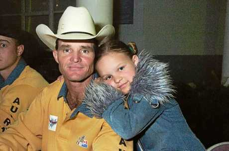 Bullriding is in Dakota Brandenburg's blood. Her dad used to compete and her mum was a barrel racer.