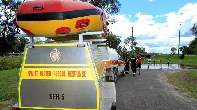 Swift Water Rescue unit ready for any situation that may require their service as the water levels rise.  Photo: Brendan Bufi / Fraser Coast Chronicle