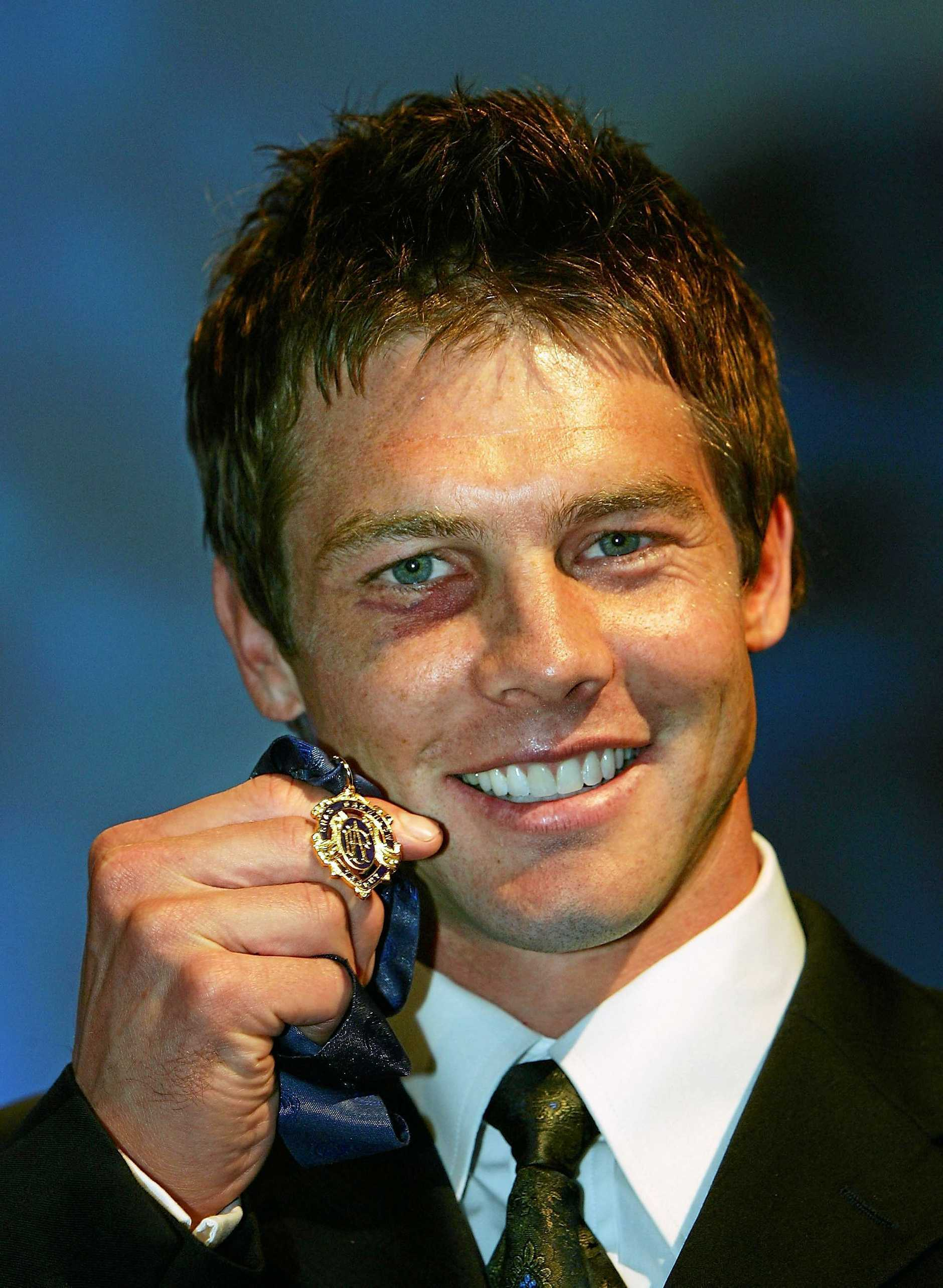 Ben Cousins with his 2005 Brownlow Medal.