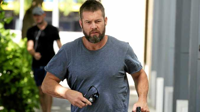 Former West Coast Eagles AFL player Ben Cousins arrives at the Fremantle Magistrates Court in January.
