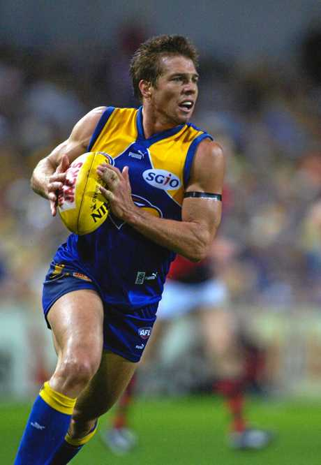 Ben Cousins playing for the West Coast Eagles in 2005.