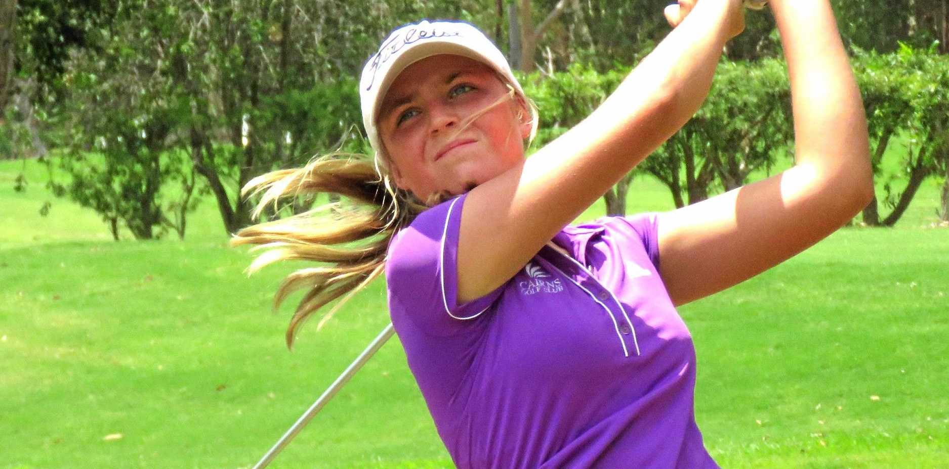 TALENTED: Maroochy River youngster Sarah Wilson in action.