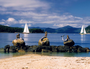 Picture of the iconic mermaids at the iconic Daydream Island Resort