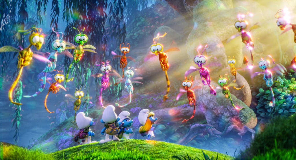 A scene from the movie Smurfs: The Lost Village.