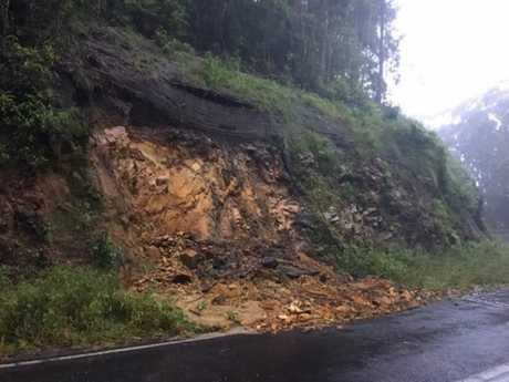Landslips along the Gwydir Highway in between Glenn Innes and Grafton.
