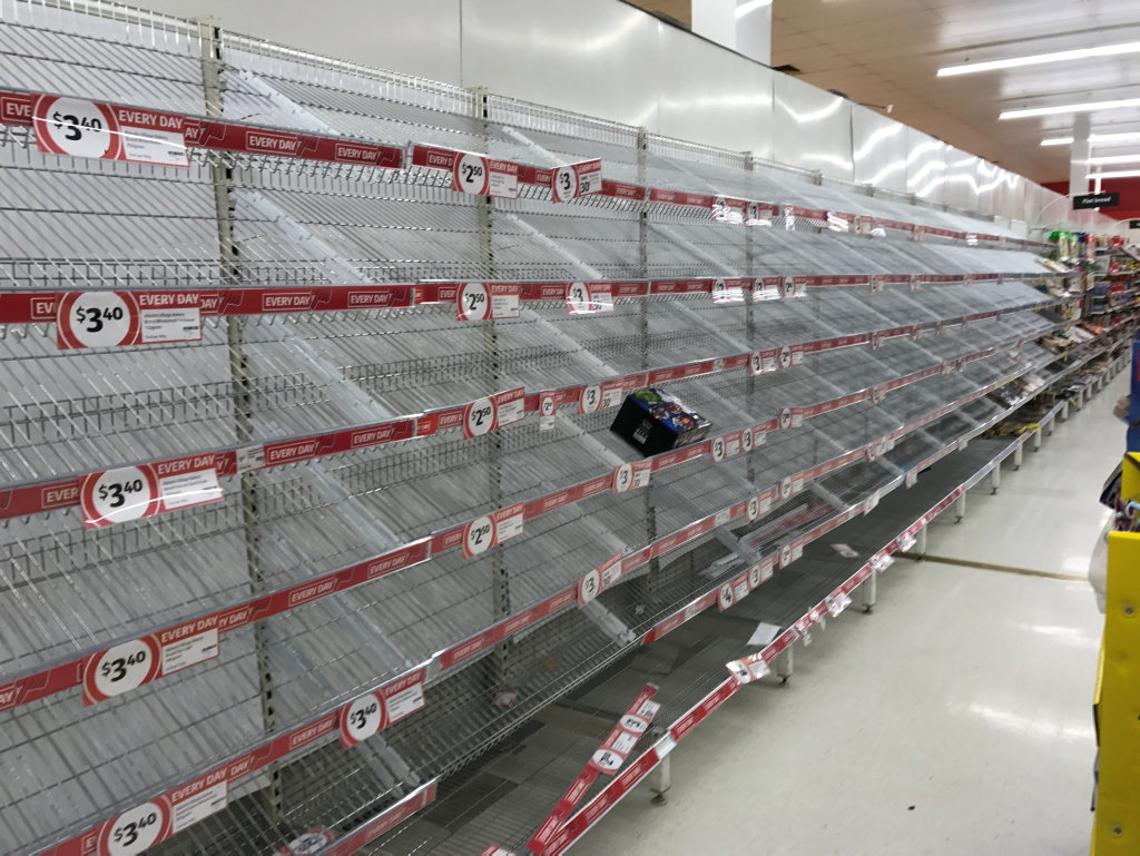 There was no branded bread left at Coles on Sydney St.