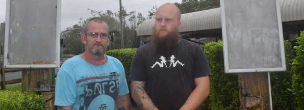 Banjo's chefs Damien Rogers and JD Little are devastated that their business has been looted.