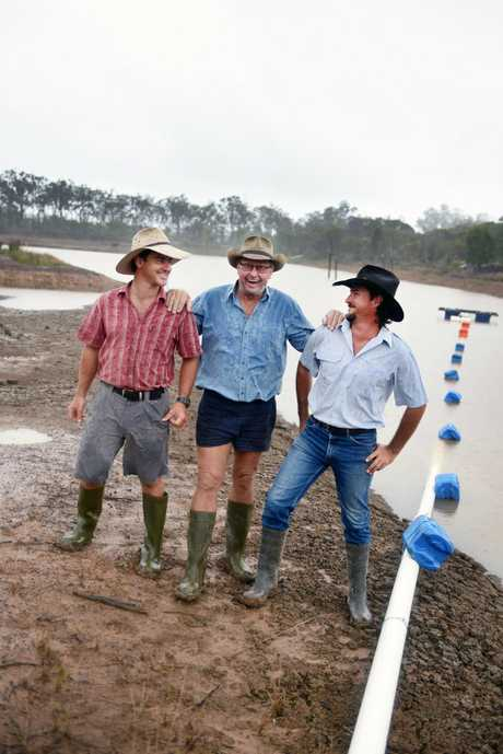 February left the dam dry and cracking. Now the March rains have Mark, Bill and Col Ward looking forward to their small crop property becoming productive again.