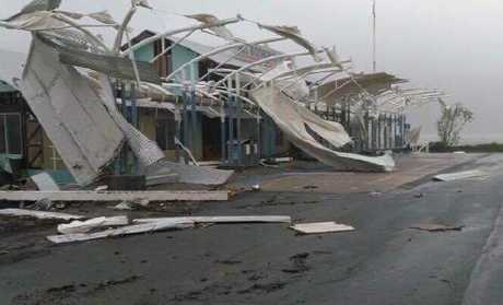 The cyclone storm which struck Australia