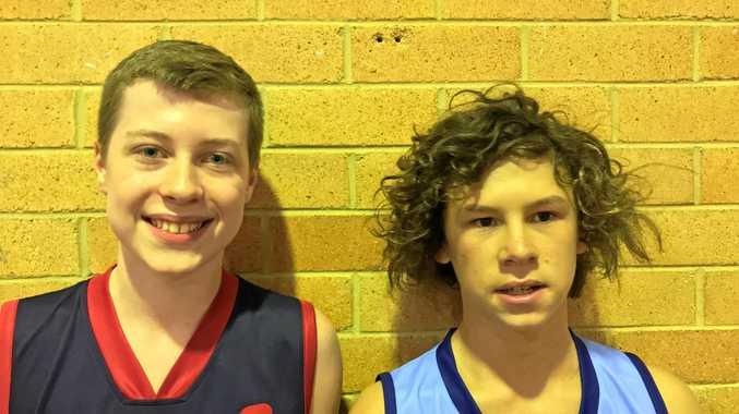 BASKETBALLERS: Jackson Ware and Harley Kent.