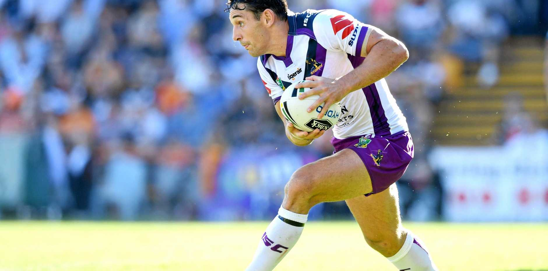 THIS YEAR IS THE FOCUS: Billy Slater is happy to be back on the field for the Melbourne Storm.