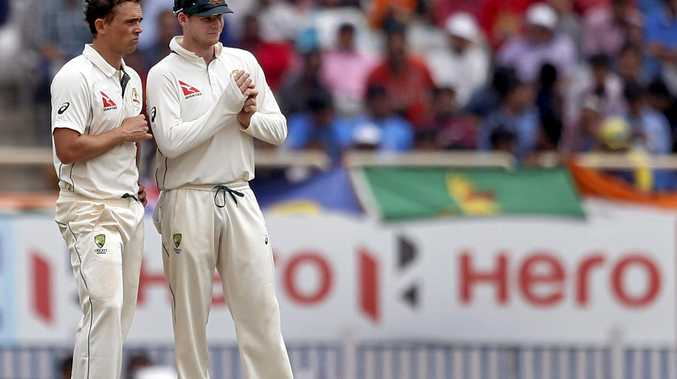 COVER-UP: Did Australian captain Steve Smith's outstanding form mask a poor effort by his batsmen.