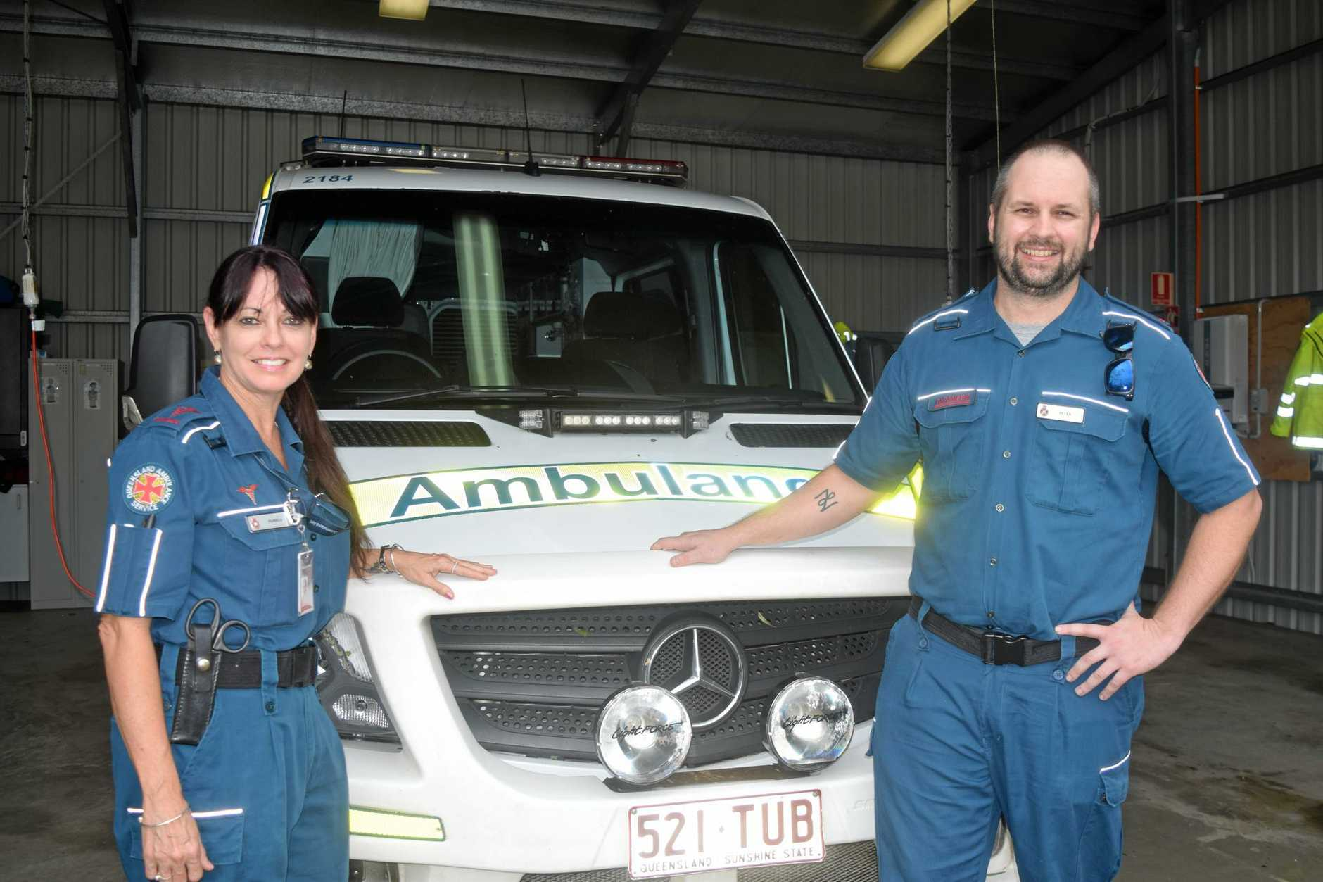 Graduate Paramedic Pamela Price and Advanced Care Paramedic Peter Gleeson have got the story of a lifetime.