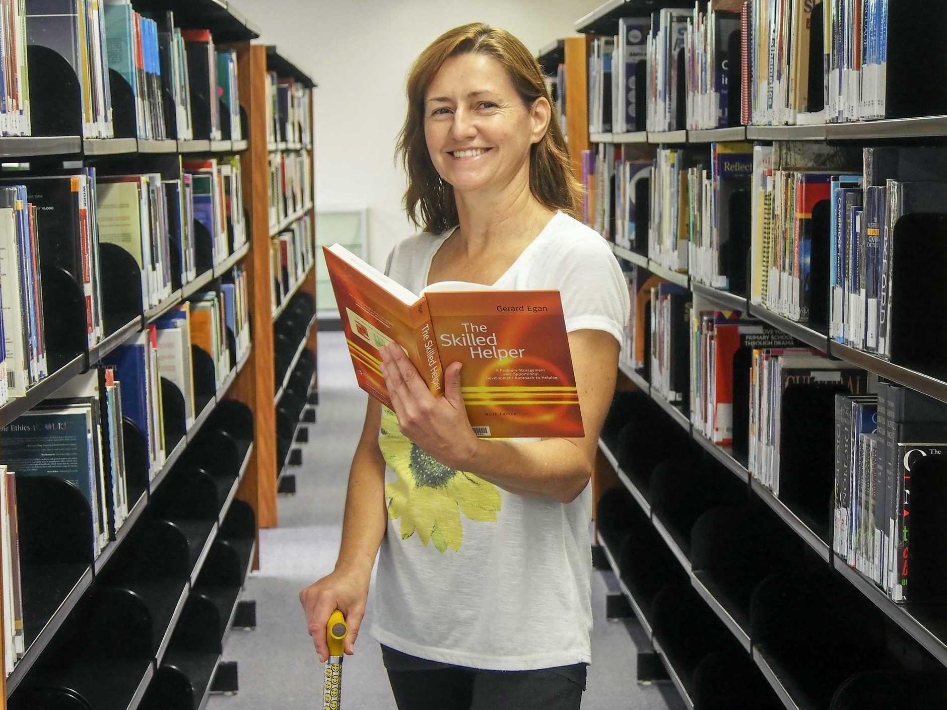 INSPIRING: Megan Collis has started a Graduate Diploma of Counselling at USQ this semester.