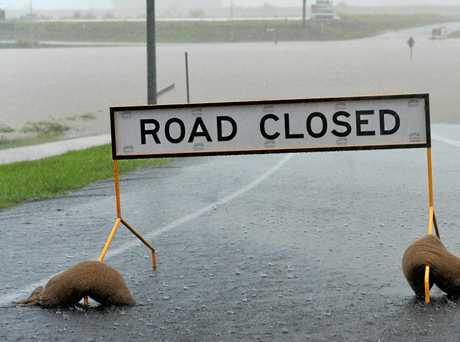 Landsdowne Road flooded near the Botanic Gardens.
