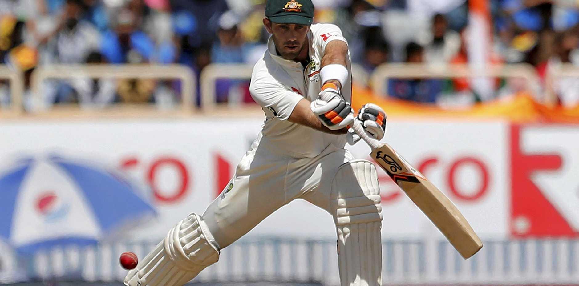 Australia's Glenn Maxwell plays a shot  in Ranchi