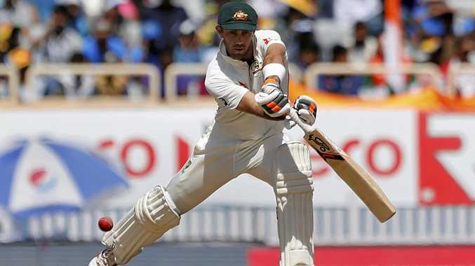 Australia's Glenn Maxwell plays a shot  in Ranchi
