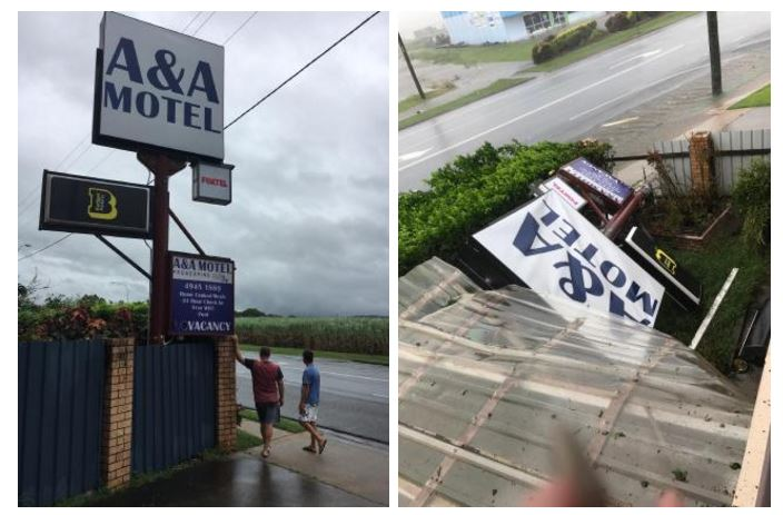 A&A Motel Proserpine before.A&A Motel Proserpine after. Picture: Kate Kyriacou