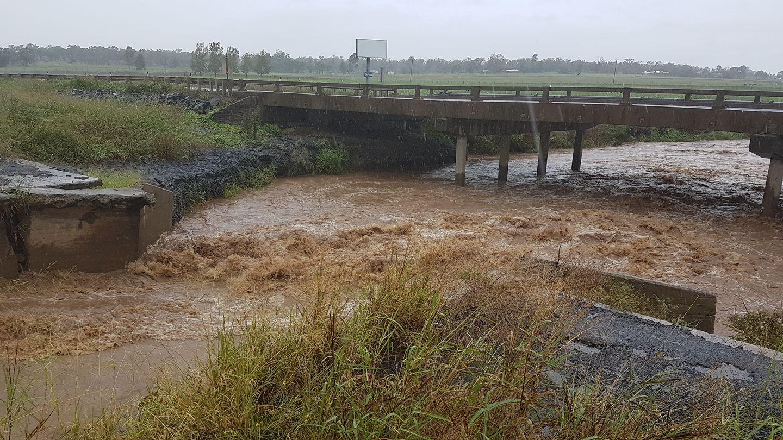 Flooding near Oakey. Photo Lydia Janee