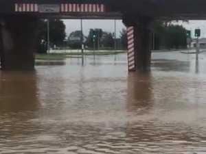 Roads flooded in Gladstone