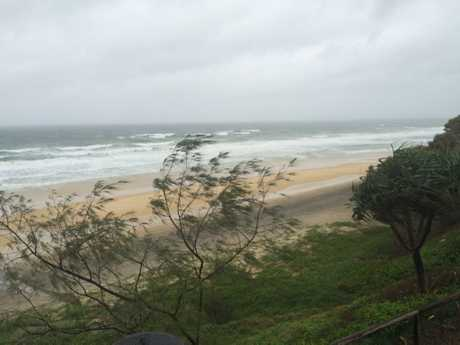 Wild winds at Rainbow Beach.