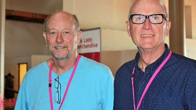 BREAST CANCER: breast cancer patients Rod Ritchie and Rob Fincher.