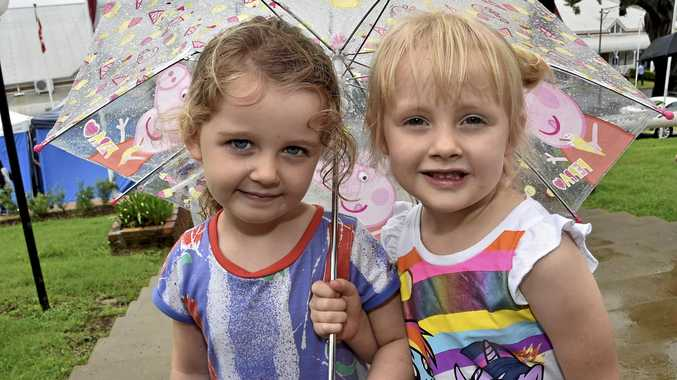 TOO CUTE: Edison Green (left) and Ruby Hopkinson are having the best time at the Heritage Bank Toowoomba Royal Show.