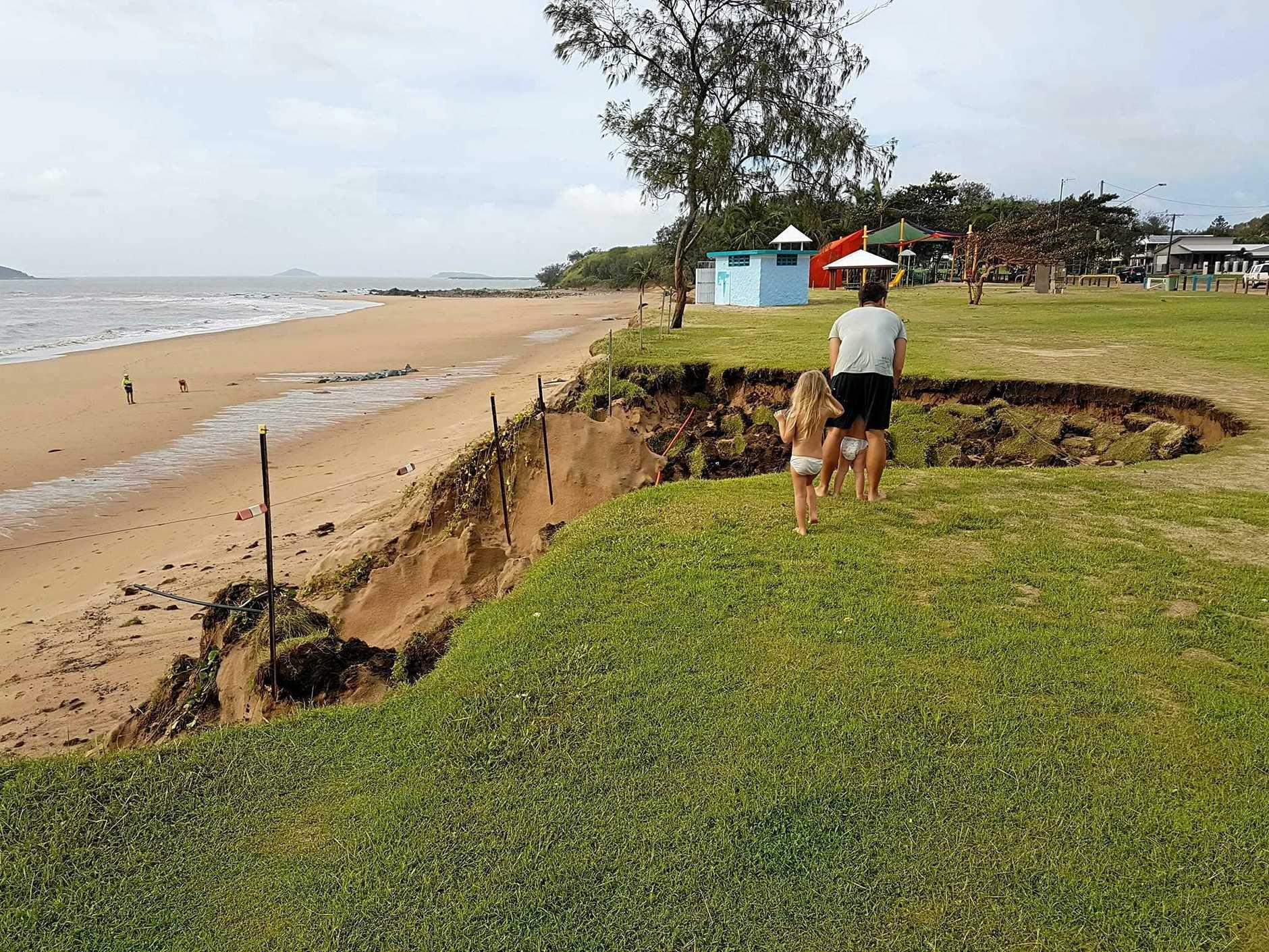 Erosion damage at Slade Point.