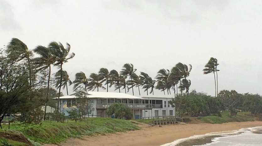 WIND: The destructive winds set to hit Bundaberg today are already building.