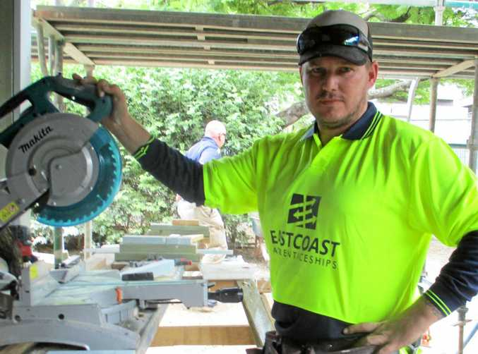 NEW DIRECTION: Former army man Steve Maxwell is now looking to a future in carpentry.