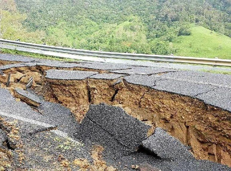 Major destruction at Sarina Range has left residents stranded.