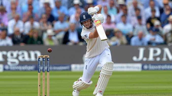 England's Joe Root at the crease.