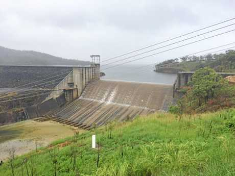 SHE'S SPILLING: Lake Awoonga dam has almost reached capacity.