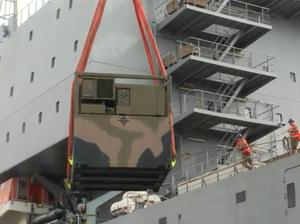 Navy loads relief supplies