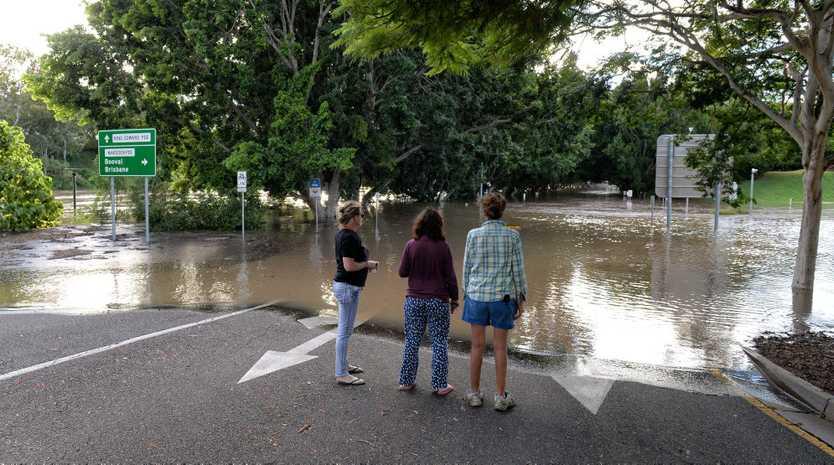 Flooding in Ipswich. King Edward Parade.