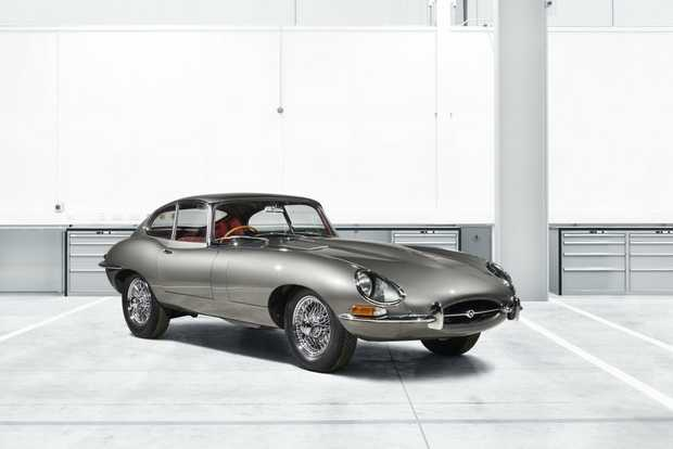 DESIRE: The first E-Type Reborn is a 1965 Fixed Head Coupe 4.2 finished in Opalesecent Gunmetal grey.