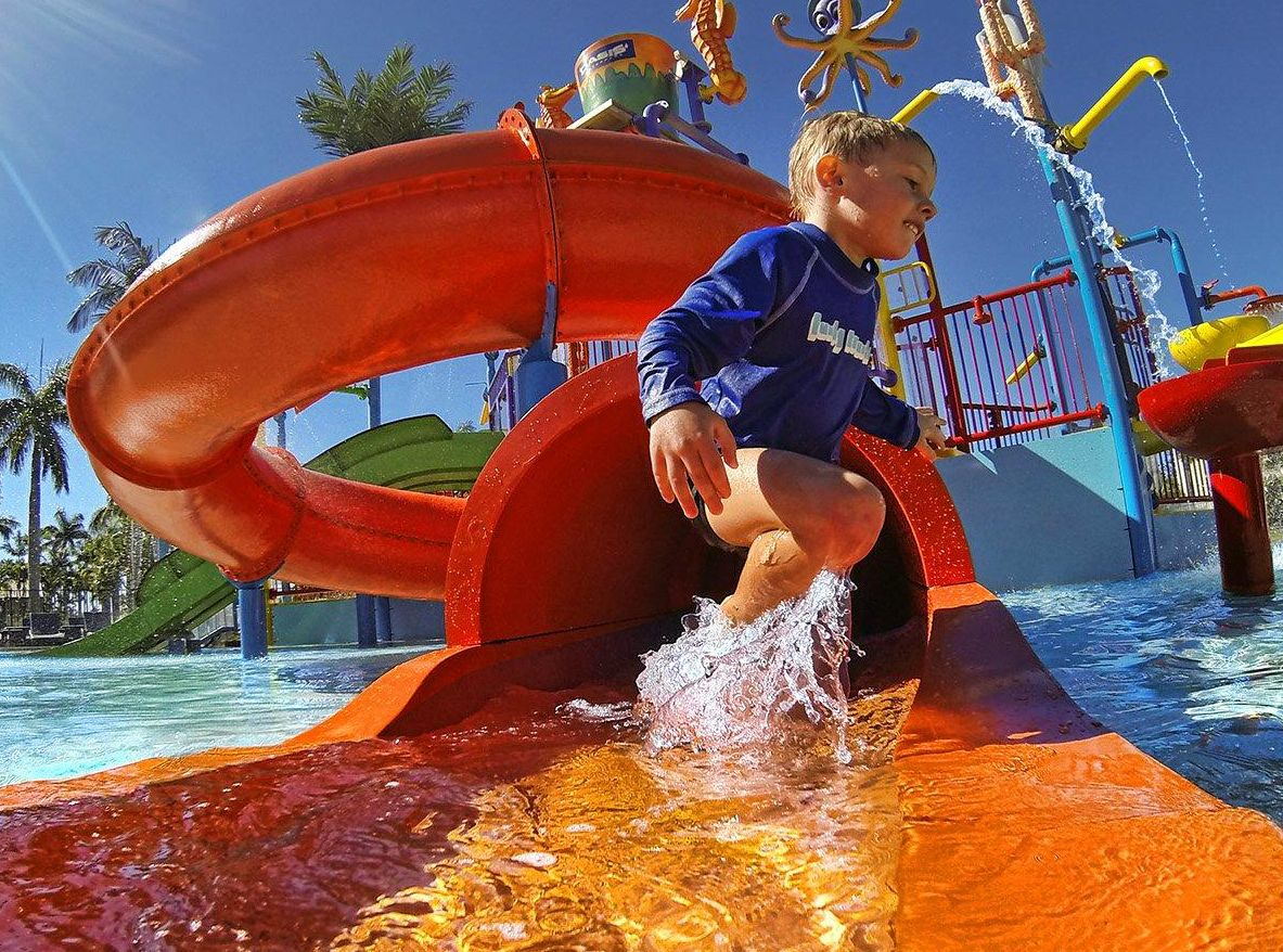 One lucky family will win a holiday at the Oaks Oasis Resort Adventure Park, in Caloundra, Sunshine Coast.