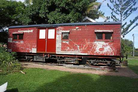 OLD SCHOOL: A camp wagon used by workers in the Mackay region decades ago. The inside has been refurbished.