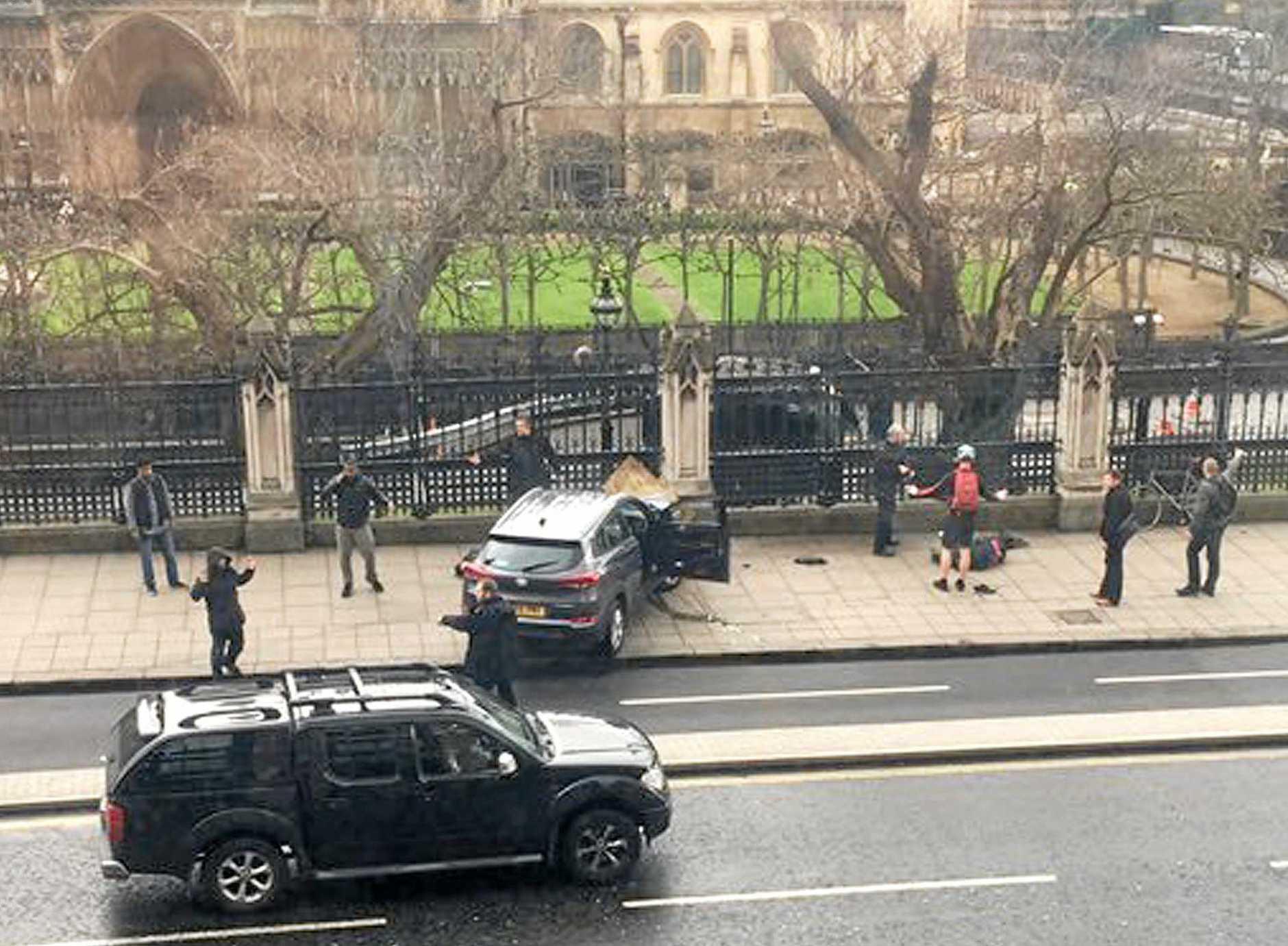 The scene of last week's terrorist attack on London's Westminster Bridge.