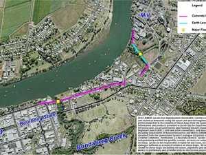 Flood group says East levee option stacks up