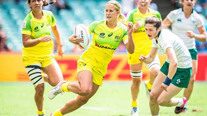ON THE RUN: Shenae Ciesiolka plays for Australia in rugby sevens.
