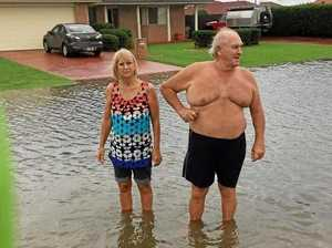 Families stuck in flooded streets says council no help