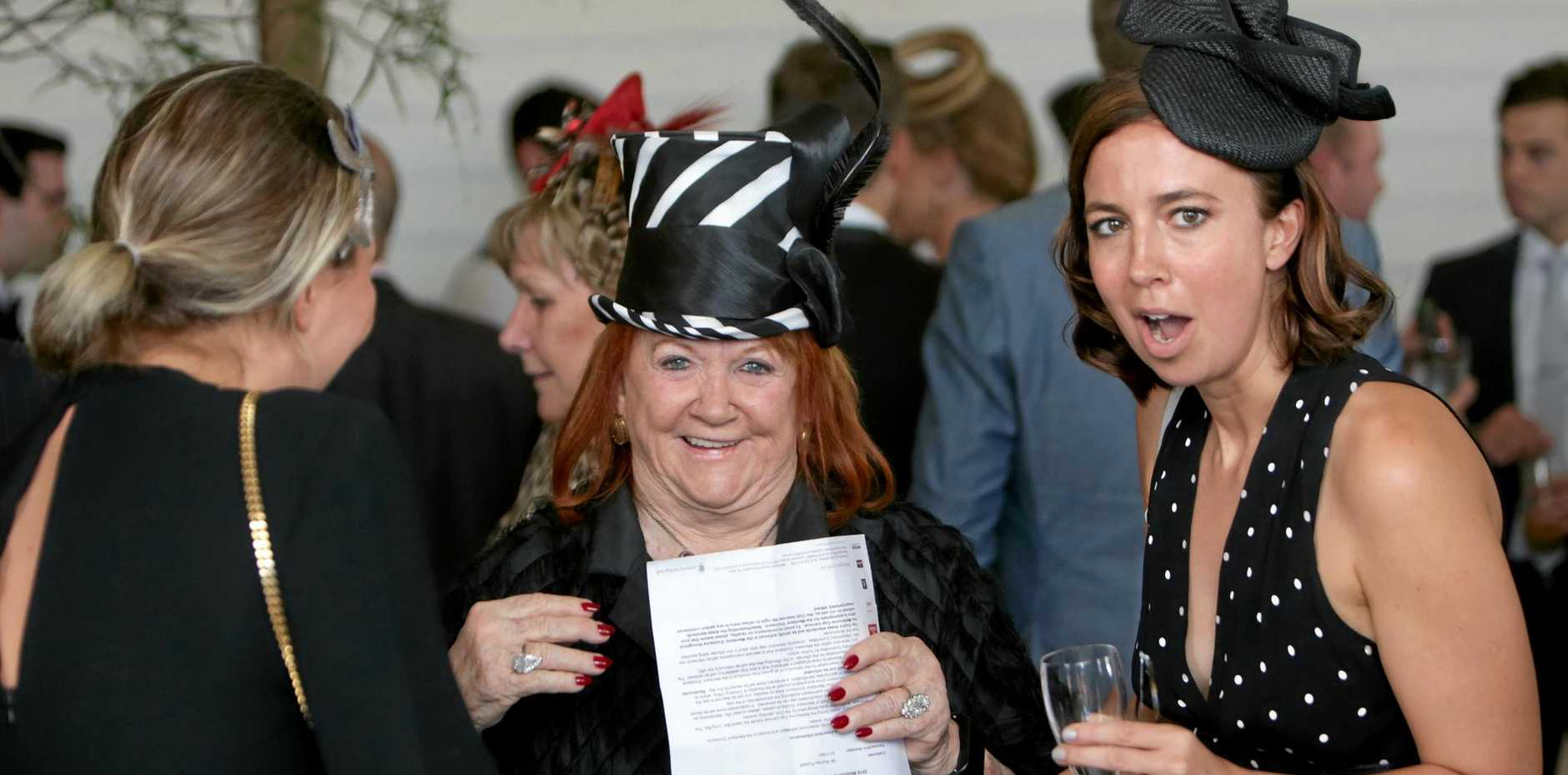 Eileen Bond in the Emirates Marquee during last year's Derby Day at Flemington. She has hit out at Channel 9's depiction of her 37-year marriage to tycoon Alan Bond in upcoming telemovie House of Bond.
