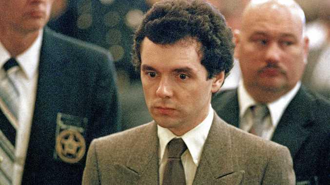 Serial killer Donald Harvey stands before a judge during sentencing in Cincinnati in 1987.