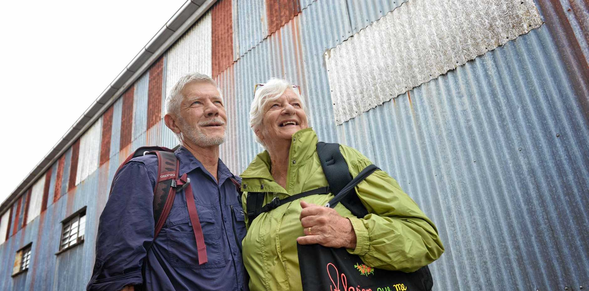 TRAVELLERS: Robin and Barbara Yule spent five weeks travelling around South America and Antarctica.