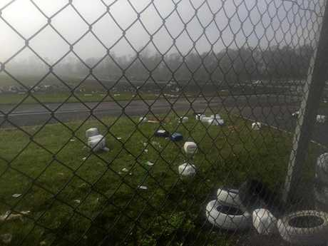 Damage at the Whitsunday Moto Sport Park at Proserpine.