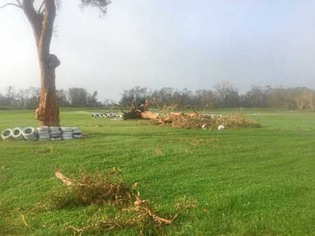 Damage at the Whitsunday Moto Sport Park at Proserpine.