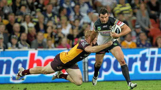Clint Greenshields in action for the North Queensland Cowboys back in 2013. He will make his first start for the Grafton Ghosts tomorrow afternoon at Rex Hardaker Oval.