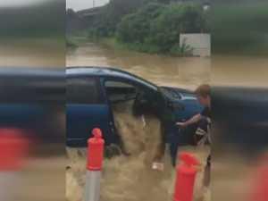 Flooded car rescue